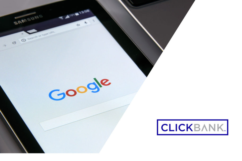 Samsung phone at the Google search window - How to Promote Clickbank Products on Google