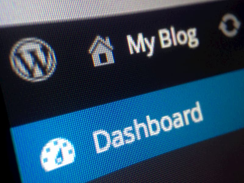 wordpress blog dashboard on a computer screen - What is a Micro Niche Site