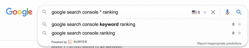 example of Google search and the autocomplete information Google provides you - How to Find Keywords for SEO for Free