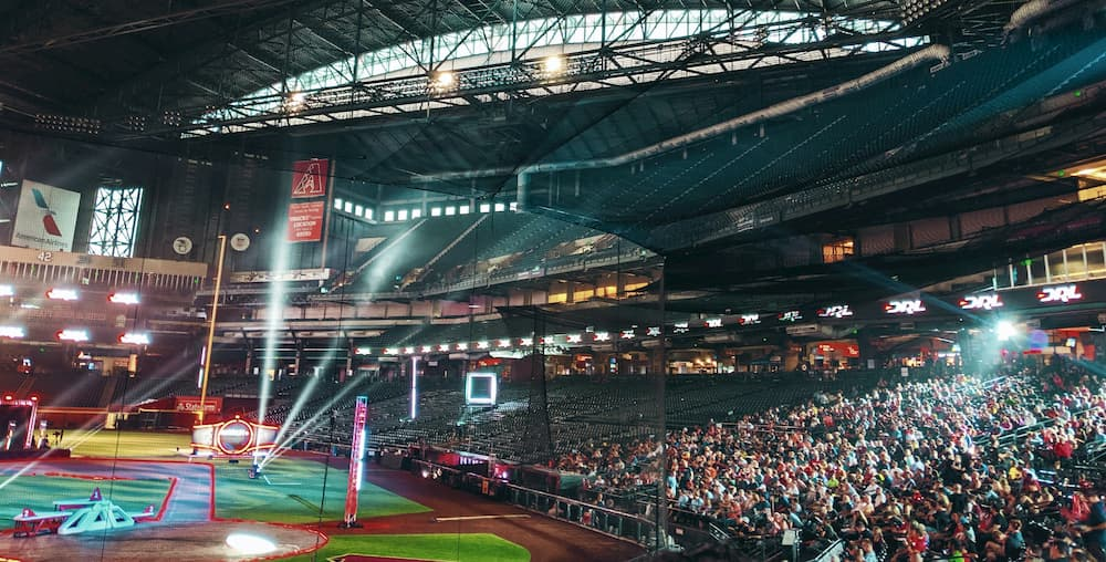 Drone Racing League World Championship at Chase Field in Phoenix, Arizona.
