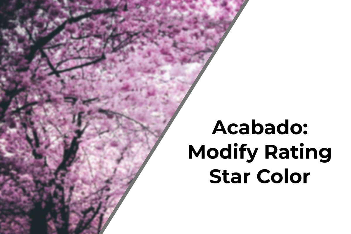 Acabado: Modify Rating Star Color